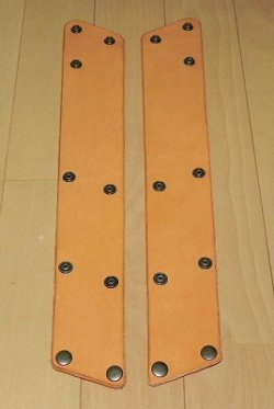 画像1: 本革製 JOY-RING スタンダードタイプ Lサイズフレーム 前/後セット