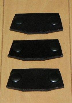 画像1: 本革製 JRSブリッジ 角型 Sサイズ 3枚セット