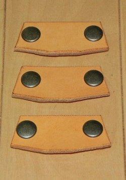 画像2: 本革製 JRSブリッジ 角型 Sサイズ 3枚セット
